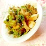 生姜ピリリ❤竹輪と豚肉と茸の焼き肉のタレ炒め❤