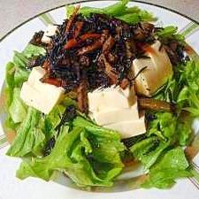 豆腐とひじき煮のサラダ