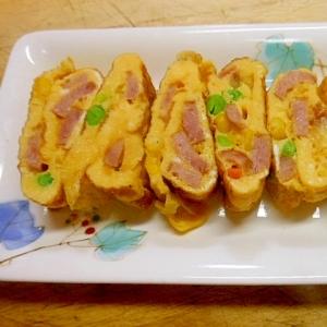 箸休め~ウインナーとミックスベジタブルの卵焼き