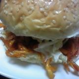 鶏の胸肉でハンバーガー