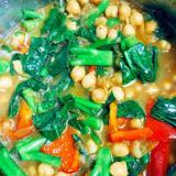 彩り鮮やか☆ひよこ豆とつるむらさきのカレー