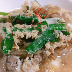 牛丼の残った汁でリメイク*豆腐の卵とじ