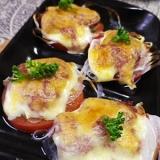 グリルパンで超簡単、トマトオニオンコンビーフ焼き