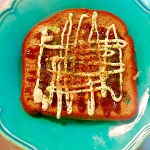 ブランパンdeお好み焼トースト