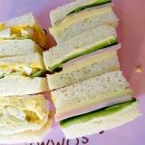 ピリ辛卵きゅうりとハムチーズきゅうりサンドイッチ