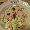 キャベツとハムとお豆のゴママヨサラダ