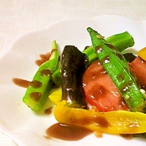 焼き野菜とバルサミコソース