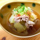 だし醤油で☆白菜と豆腐のさっと煮