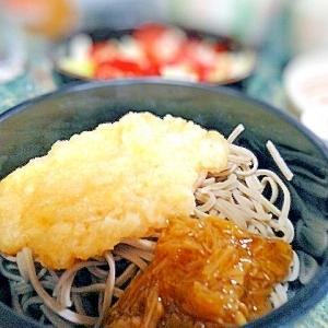 夏は☆ナメタケの黄身おろし蕎麦