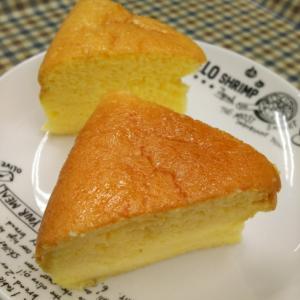 ホットケーキでスライスチーズのチーズケーキ