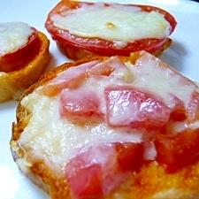 シンプル! トマトとチーズのピザトースト☆