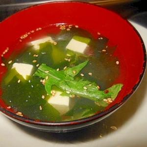 豆腐とわかめの中華スープ
