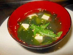 簡単~豆腐とわかめの中華スープ