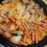 ポークビッツでキムチ鍋