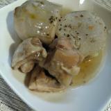 たけのこ芋と鶏肉のあっさり煮 黒こしょう風味!