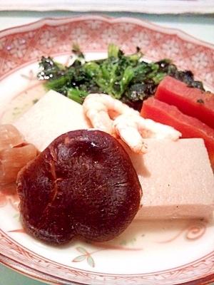 高野豆腐と干しシイタケ 煮物