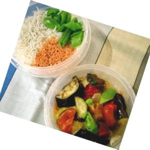 簡単3色ご飯と ラタトゥイユ風弁当