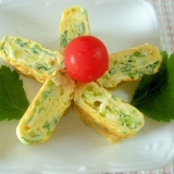 お弁当に☆三つ葉とプロセスチーズの卵焼き☆