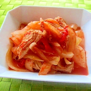 炊飯器で簡単!鶏むね肉とたっぷり玉ねぎのトマト煮