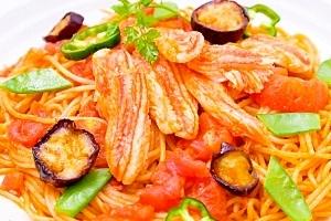 おうちで本格イタリアン♪カニのトマトパスタ