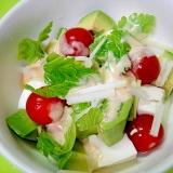 アボカドと豆腐セロリのサラダ