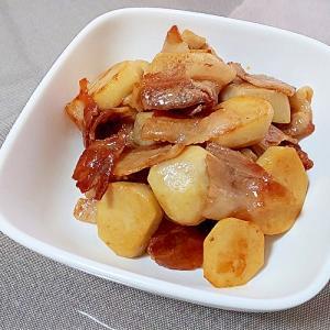 里芋と豚ばらのにんにく醤油炒め++