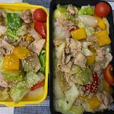【弁当】豚肉と残り野菜炒め