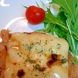 チーズチキンのバルサミコメープルソース