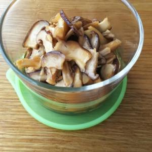 椎茸の甘めんつゆ煮