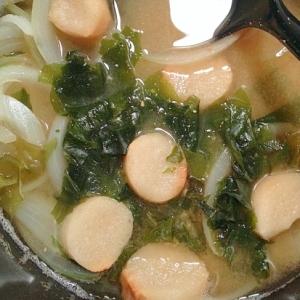 甘~い☆玉ねぎとお麩とワカメのお味噌汁