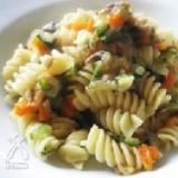 シンプル野菜ソースのフジッリ