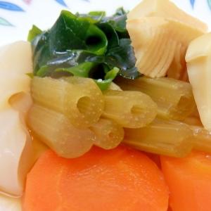 春の煮物・フキとタケノコ(蕗の下処理付き)