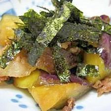 豚バラ肉となすの和風炒め。