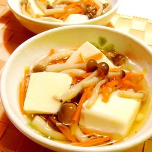 めんつゆで簡単!豆腐のしめじあん煮