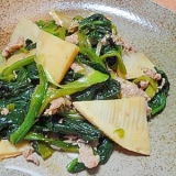 ピリ辛★ほうれん草と豚肉の豆板醤炒め
