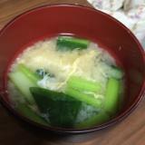 だし入り味噌で簡単!小松菜と卵のお味噌