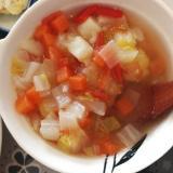【離乳食完了期】野菜たっぷりミネストローネ風スープ