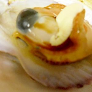 殻付ほたての醤油バター焼き