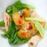 小松菜竹輪キウイラー油胡椒サラダ