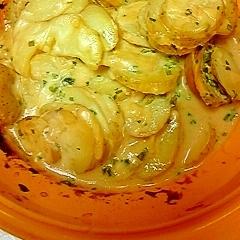 ポテトの味噌マヨチーズ焼き