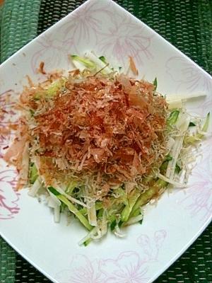 簡単すぎる♪(´ε` )ジャコと大根のサラダ☆