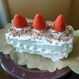 型がなくても!天板でショートケーキ