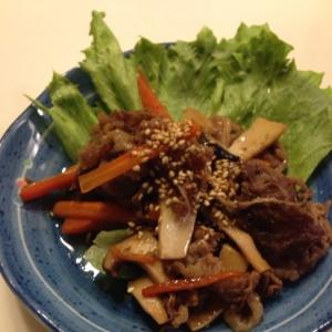 ♫牛肉とエリンギのオイスター炒め♫