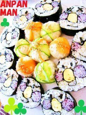 ◆完全攻略◆米1合でアンパンマン巻き寿司 ・太巻き