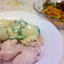 鶏肉とお野菜のあったかクリーム煮