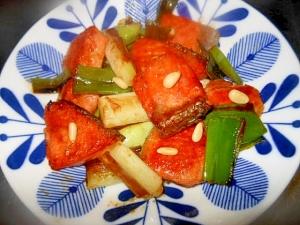 ☆秋鮭とねぎのオイスターソース炒め☆