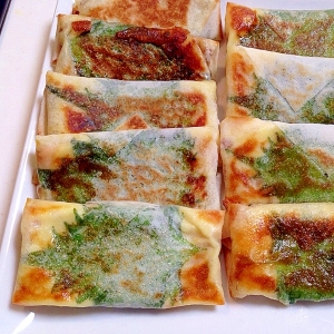 焼きチーズ春巻きin納豆( 一一)
