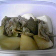 めんつゆで簡単!かぶと豚肉の煮物