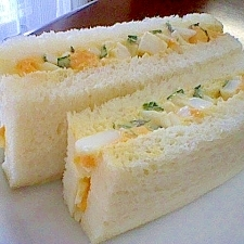 たまごと大葉のサンドイッチ