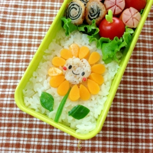 簡単キャラ弁☆ひまわりちゃんのお弁当♪